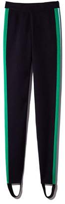 Sandro Shiny Striped Stirrup Leggings