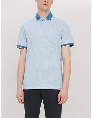Ted Baker Toff geometric-print cotton polo shirt