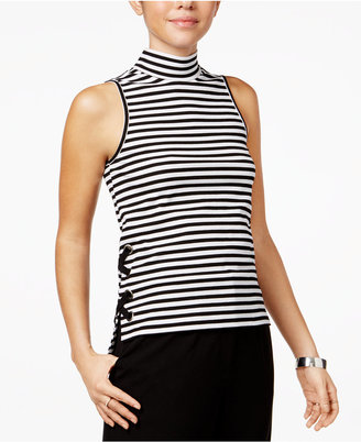 The Edit By Seventeen Juniors' Striped Lace-Up Tank Top, Only at Macy's $39 thestylecure.com