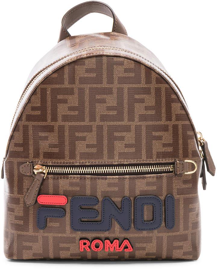 9c8f762113cf Fendi x FILA Small Logo Backpack in Brown