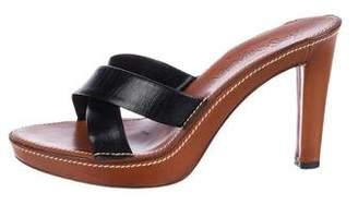 Saint Laurent Leather High Heel Sandals