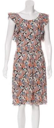 Prada Ruffle-Accented Sleeveless Dress