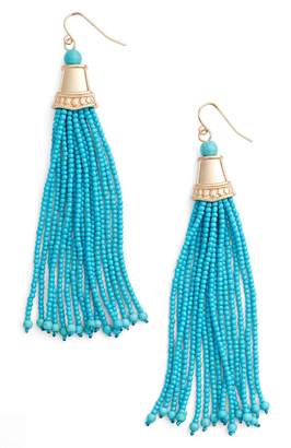 Adia Kibur Beaded Tassel Earrings