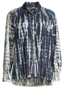 3x1 Drew Oversized Shibori Button-Down Shirt