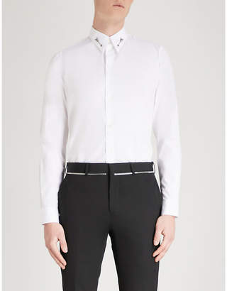 Givenchy Arrow-detail slim-fit cotton shirt
