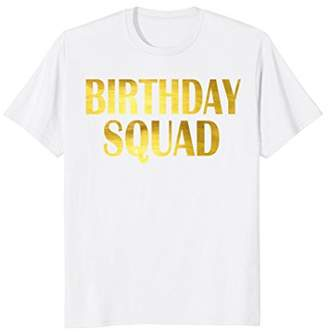 Birthday Squad Gold Faux Shirt Party