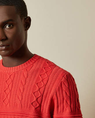 Ted Baker MARBAL Multi stitch crew neck jumper
