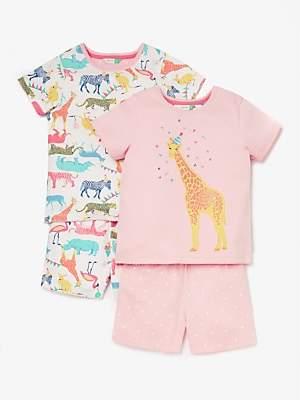 9587048481a John Lewis   Partners Girls  Party Animal Short Pyjamas