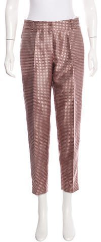 Kate Spade New York Brocade Straight-Leg Pants