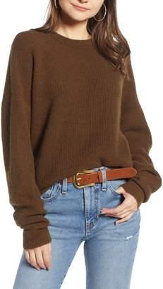 Something Navy Fuzzy Oversize Sweater
