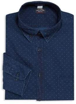 Paul & Shark Dotted Cotton Button-Down Shirt