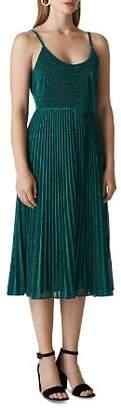 Whistles Regina Pleated Sparkle Dress
