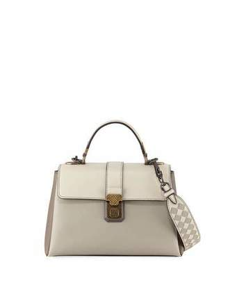 Bottega Veneta Piazzo Small Colorblock Leather Top-Handle Satchel Bag