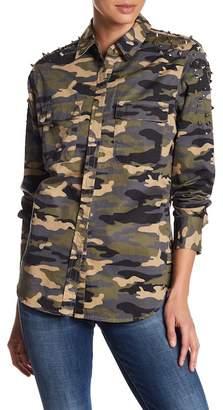 True Religion Camo Studded Utility Shirt