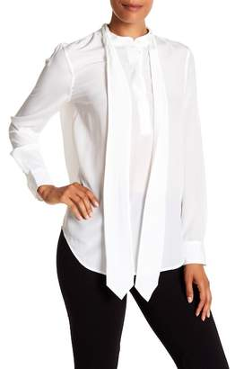 Equipment Carleen Front Tie Silk Blouse