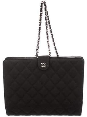 Chanel Caviar iPad Case w/ Strap