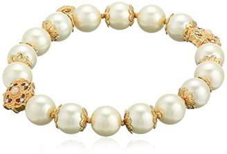 Anne Klein Women's Gold Tone Stretch Bracelet