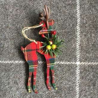 The Christmas Home Tartan Reindeer Christmas Decoration