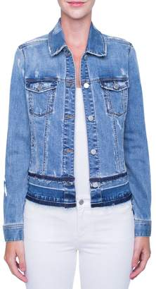 Liverpool Tiered Hem Denim Jacket