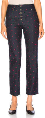 Miaou Junior Pant in Rose Embroidery | FWRD