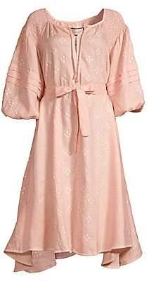 Innika Choo Women's Hugh Jesmonk Embroidered Linen Dress
