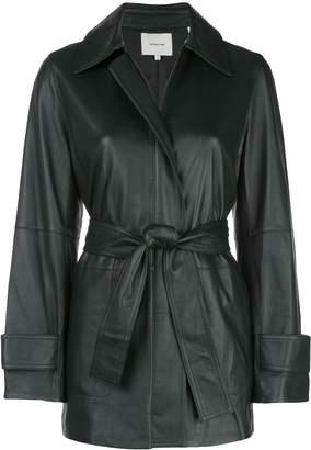 Vince belted leather jacket