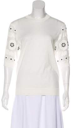 Chloé Crew Neck Daisy Sweater