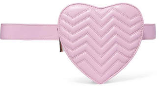 Quilted Leather Belt Bag - Pink