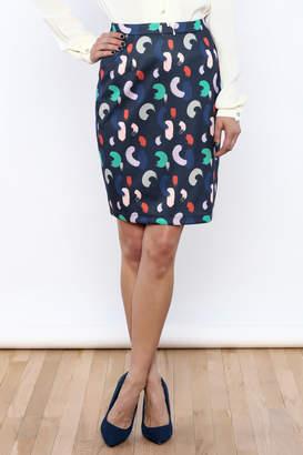 Yumi Brush Stroke Pencil Skirt