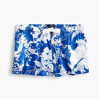 J.Crew Pajama short in blue floral