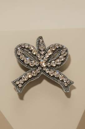 Gucci Bow brooch with crystals