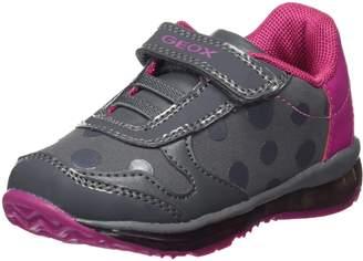 Geox Girl's B TODO G. C Sneakers, Navy/Dk Pink