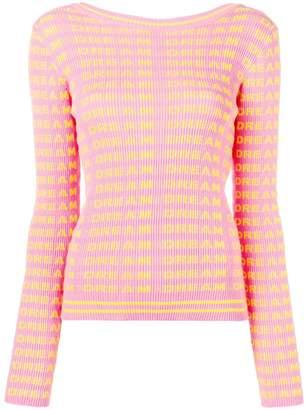 MSGM ribbed 'Dream' sweater