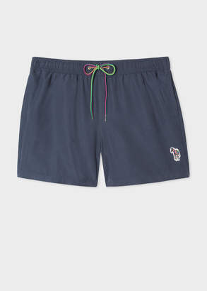 Paul Smith Men's Navy Zebra Logo Swim Shorts