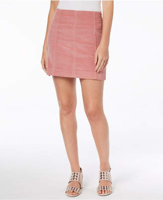 Tinseltown Juniors' Corduroy Mini Skirt