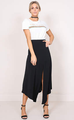 Showpo Dancing With Diamonds maxi skirt in black