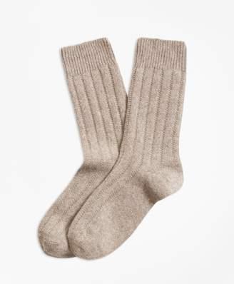 Brooks Brothers Rib-Knit Cashmere-Blend Socks