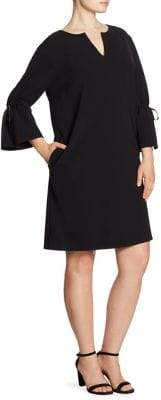 Lafayette 148 New York Lafayette 148 New York, Plus Size Deandra Knotted Bell Sleeved Dress