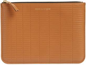 Comme des Garcons Brick Line Embossed Leather Pouch