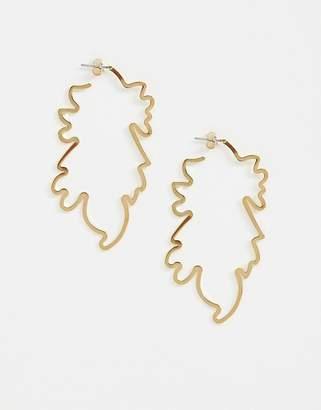 Whistles large leaf outline earring