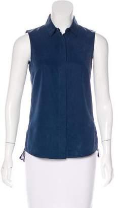Akris Punto Sleeveless Button-Up Top