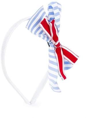 Simonetta striped bow hair band