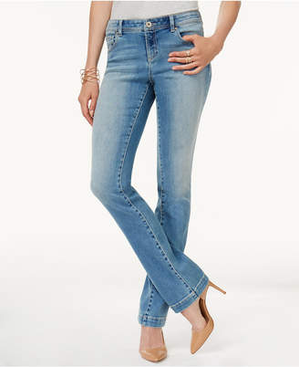 INC International Concepts I.N.C. Petite Bootcut Tummy-Control Jeans, Created for Macy's