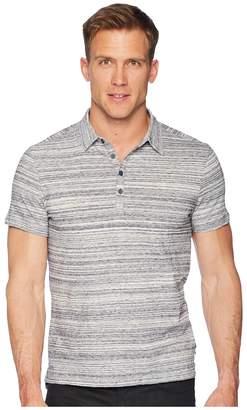 John Varvatos Short Sleeve Polo Shirt Random Stripe Siro K3655U1B Men's Clothing