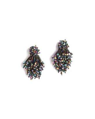 Mignonne Gavigan Burst Beaded Statement Earrings, Oil Slick