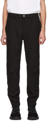 Nonnative Black Easy Rib Cyclist Trousers