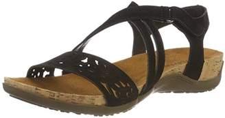 BearPaw Women's Glenda Ankle Strap Sandals, Schwarz Black 884