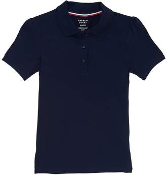 French Toast Plus Girls Short Sleeve Stretch Pique Polo
