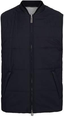 Stefano Ricci Leather Trim Silk Gilet