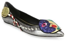 Marc JacobsMarc Jacobs Night & Day Leather Point Toe Flats